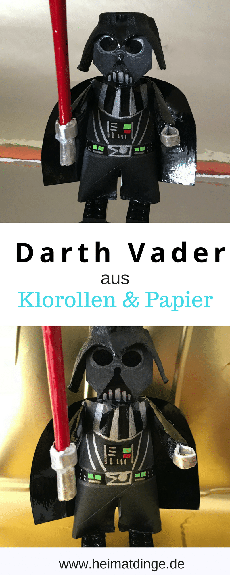 Darth Vader aus Verpackungsmaterial selber machen, Upcycling