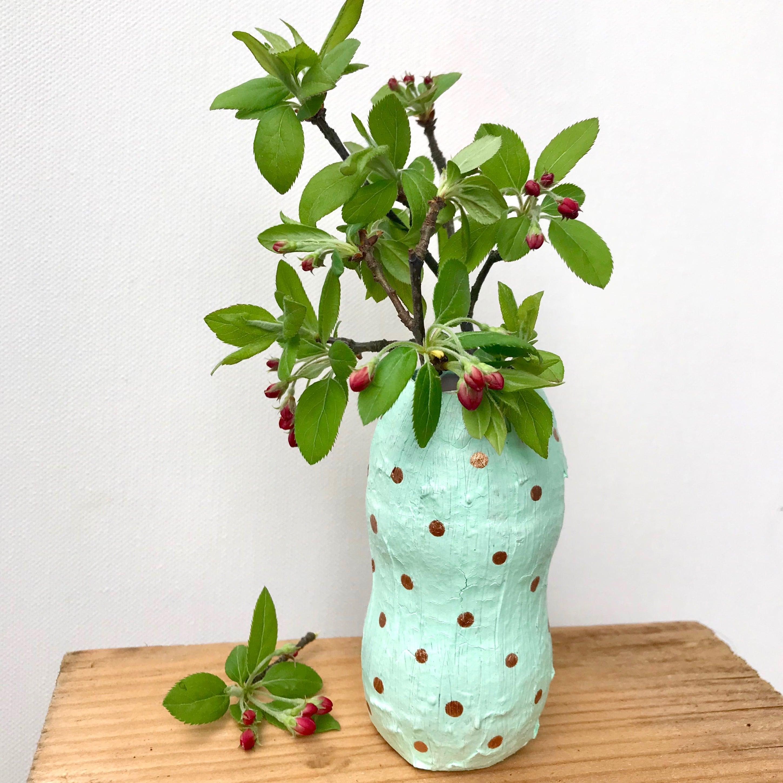 DIY Blumenvase to go, für Blumengeschenke, Upcyclingidee zum selber machen