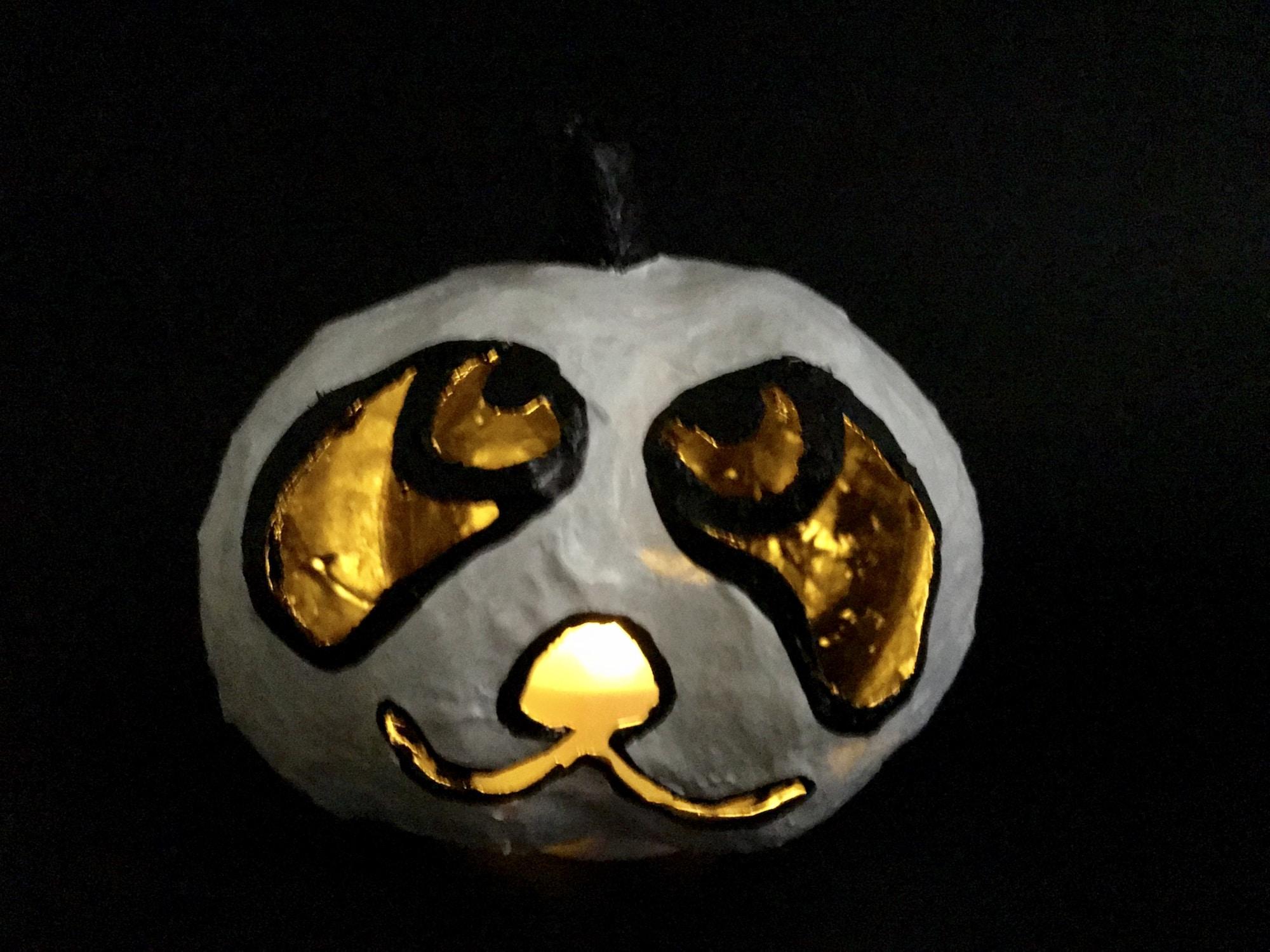 Kuerbis fuer Halloween basteln, Halloween Deko selber machen