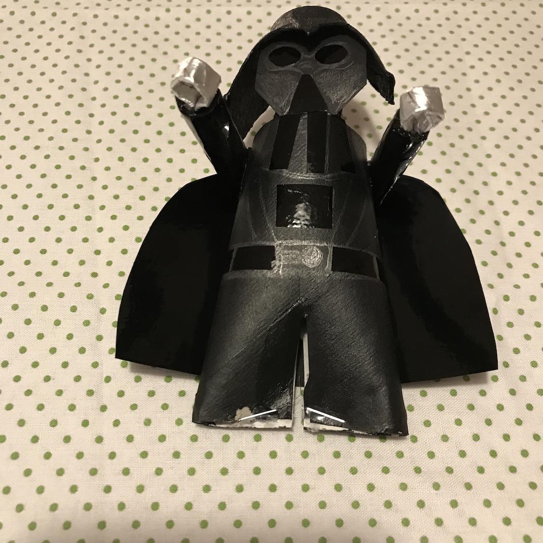 DIY Darth Vader von Star Wars selber machen, Upcyclingidee