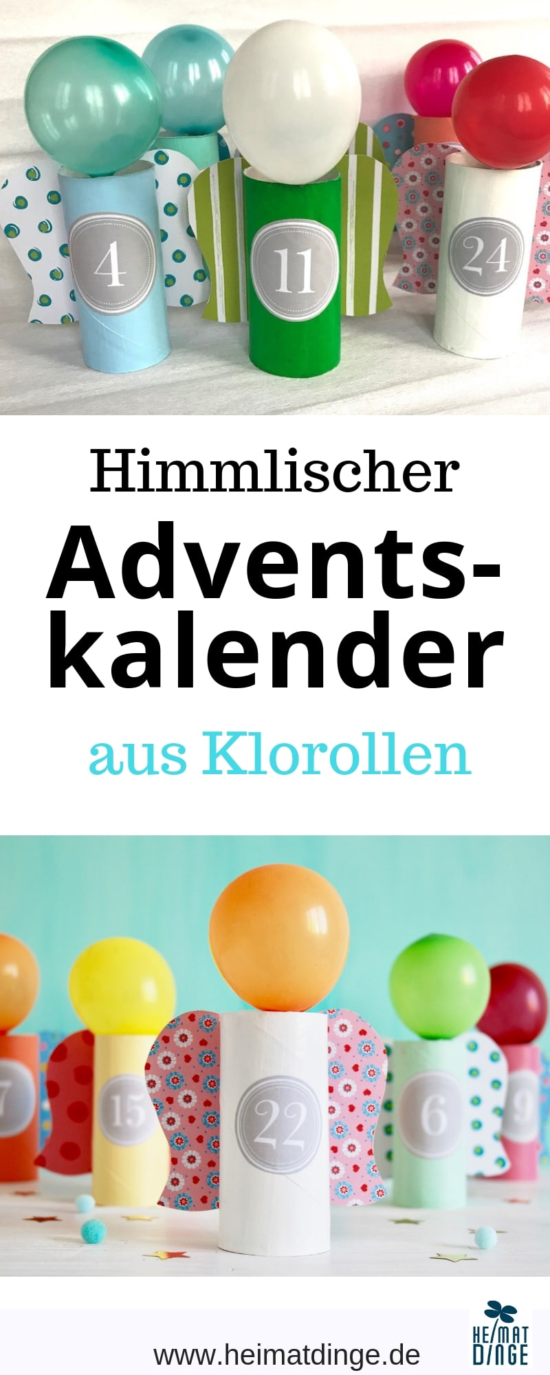 Adventskalender basteln, Upcycling für Kinder