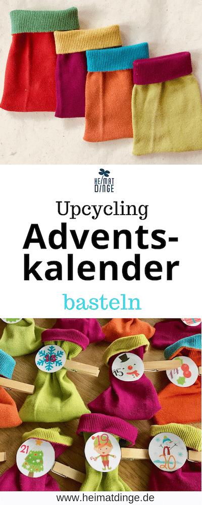 DIY Adventskalender aus Socken Basteln, Upcycling