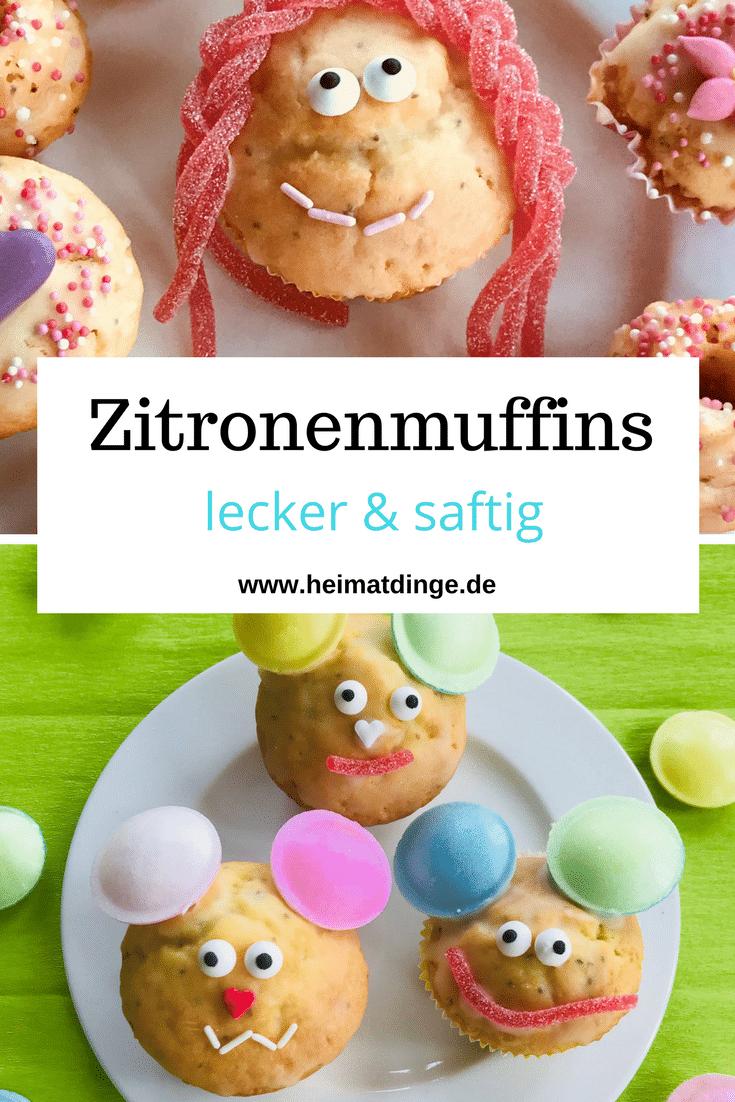 Kindergeburtstag, Zitronemuffins, Rezept, Motivmuffins