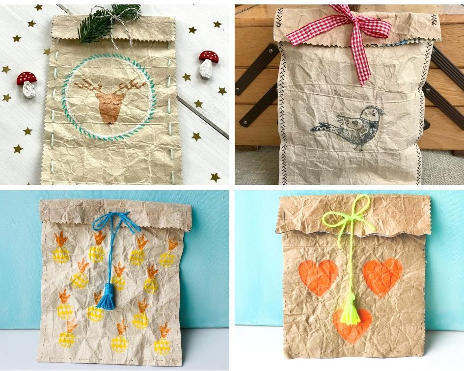 Geschenktuete aus Tetrapack, basteln, Geschenkverpackung, Upcycling