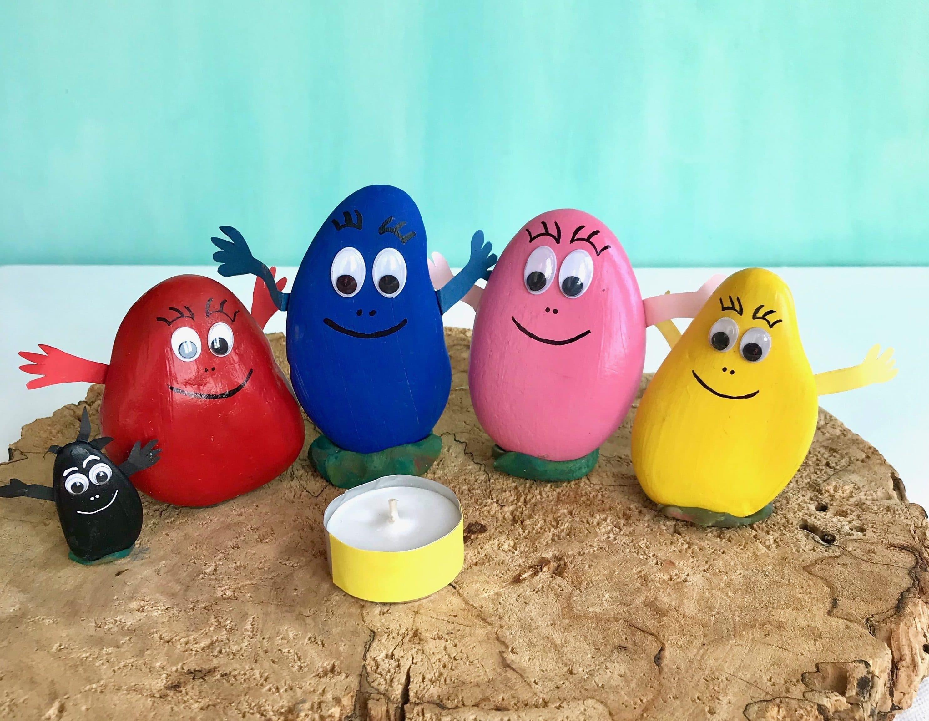 DIY Steine bemalen Kinderbasteln