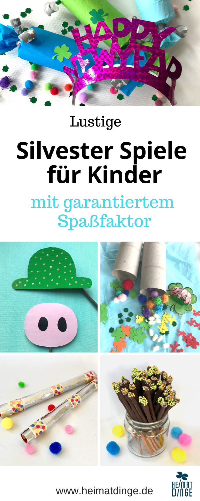Silvester mit Kindern feiern, Silvesterparty Spiele Essen, Upcycling Kinder
