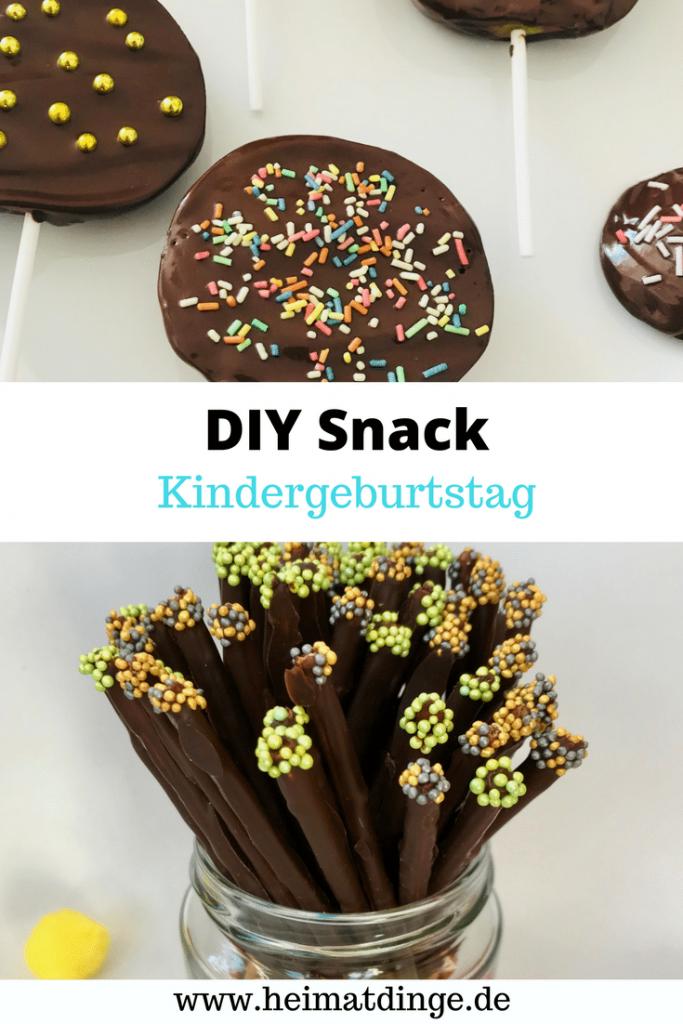 Kindergeburtstag - bunte, süße Snacks für hungrige Partygäste -