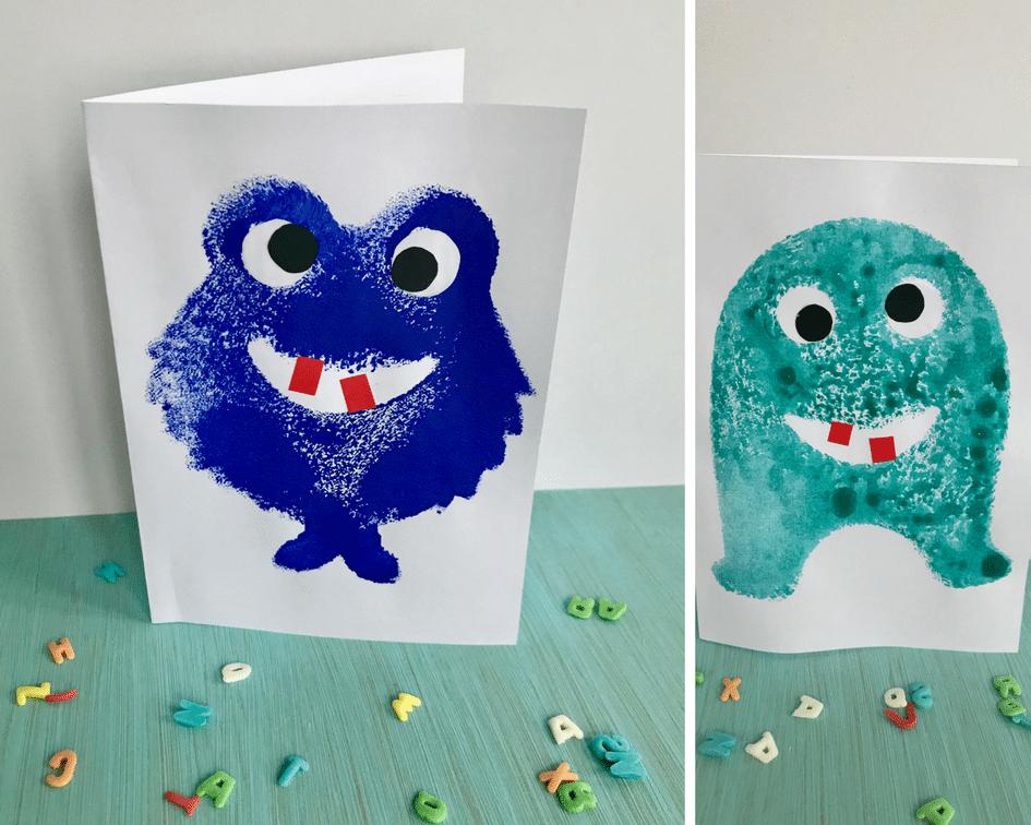 DIY Monster Einladungskarte Selber Machen