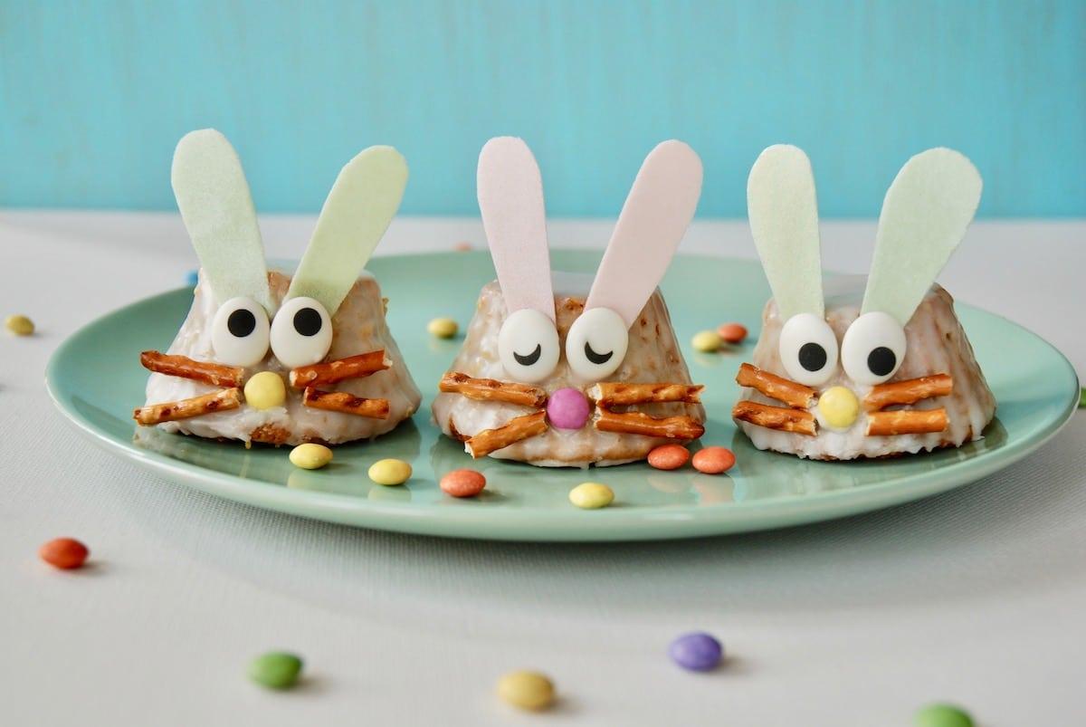 Osterhasen Muffins, Rezept, Ostern, Backen fuer Kinder