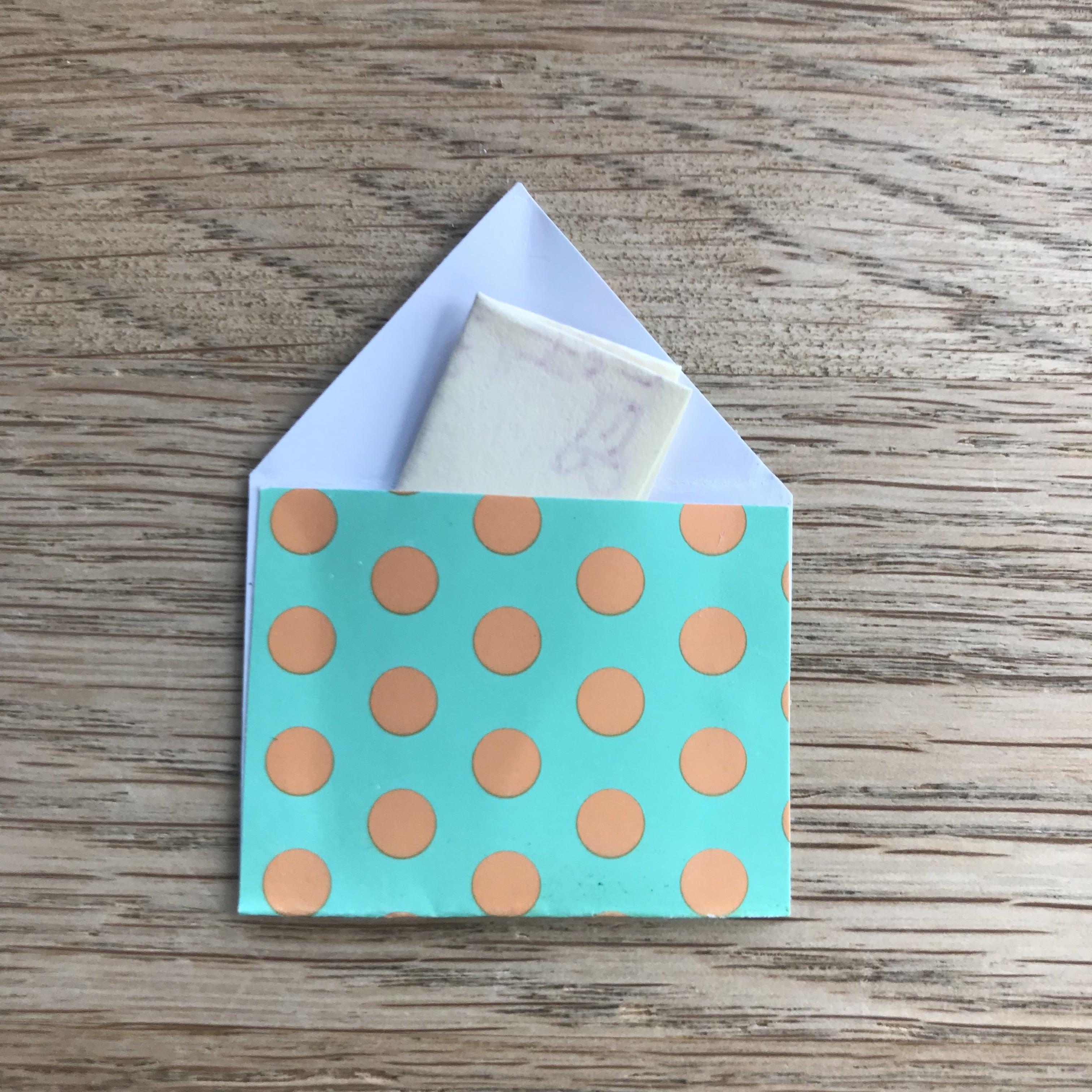 Osterkarte selber machen, Briefumschlag