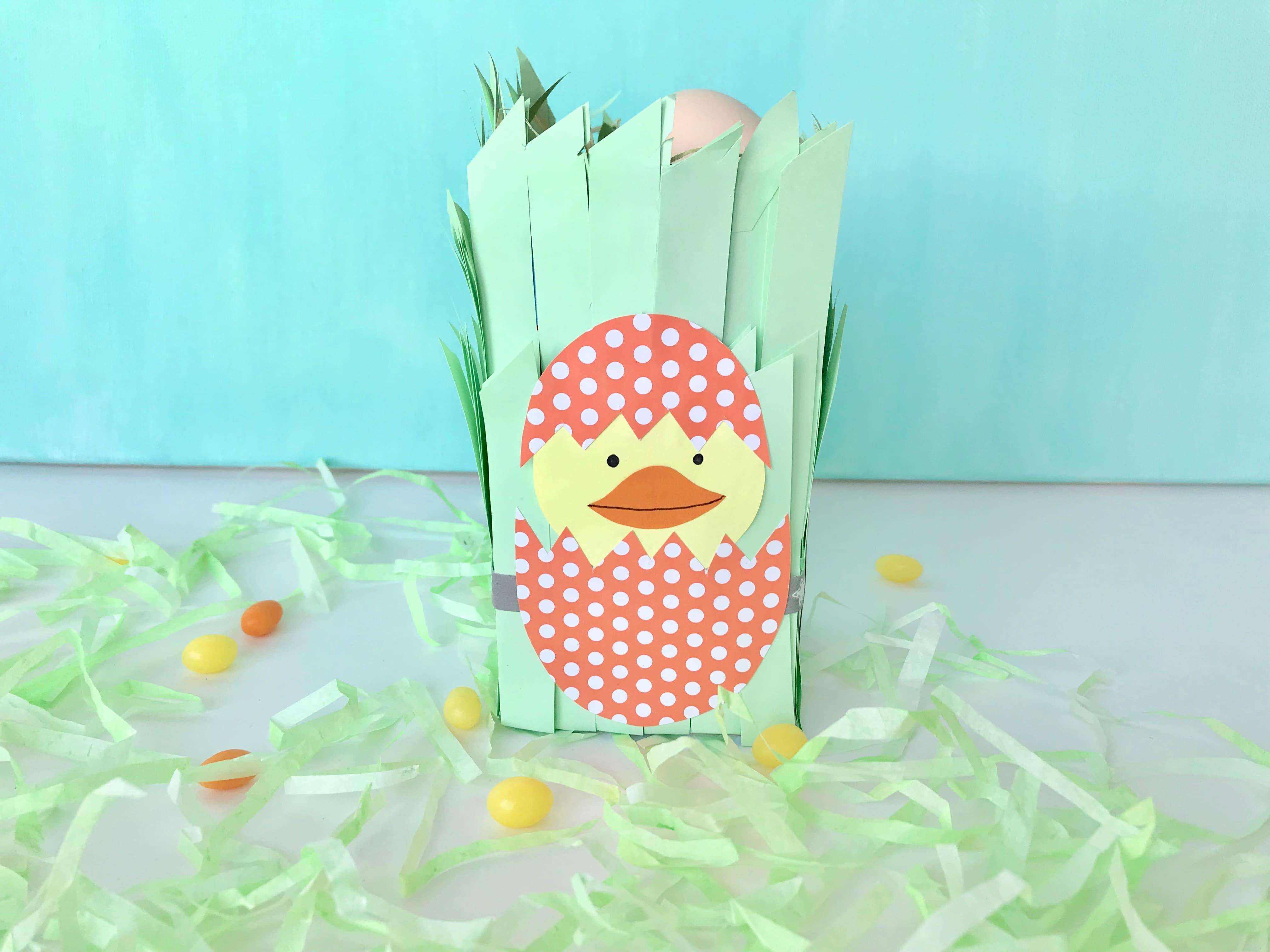 Osternest aus Tetrapak einfach basteln - kreative Geschenk Idee zu Ostern