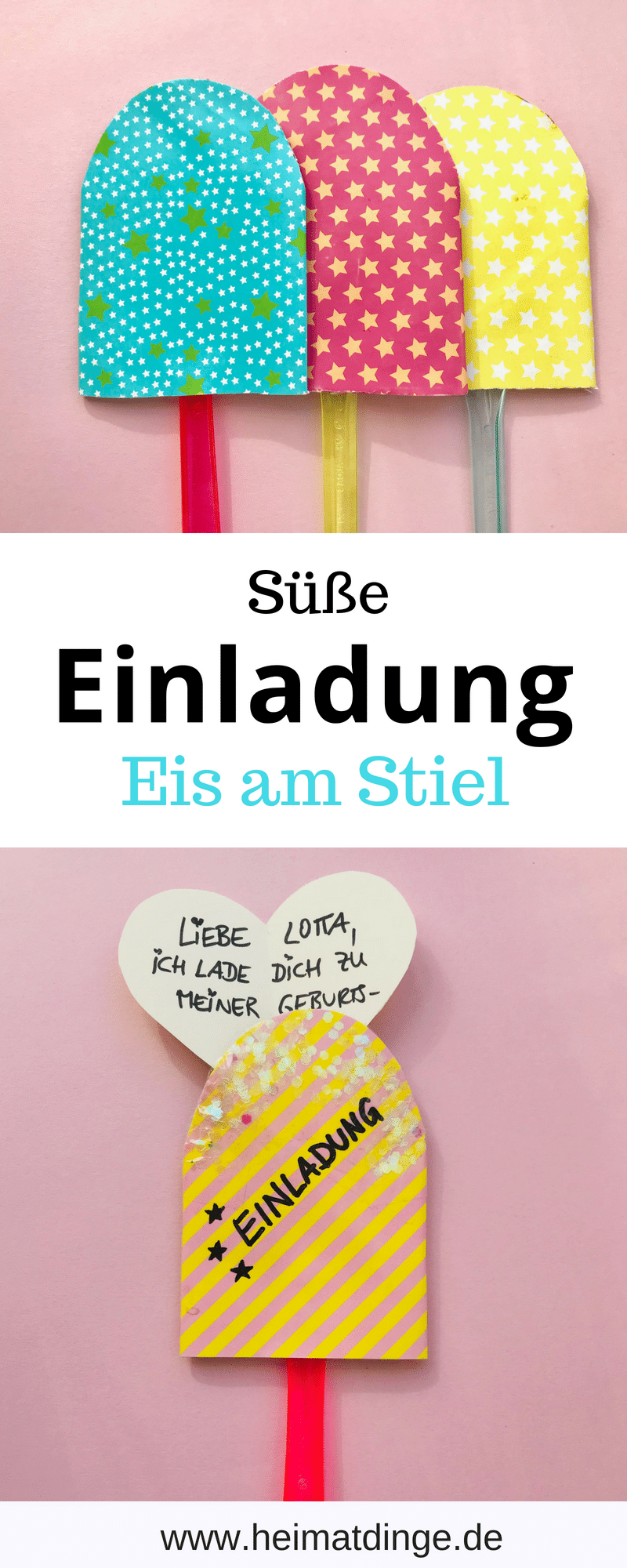 diy einladungskarte eis am stil aus klorolle in 5 min selber machen. Black Bedroom Furniture Sets. Home Design Ideas