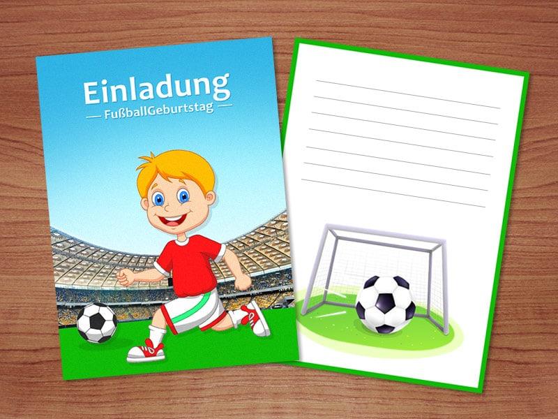 Einladungskarten für Fußball Geburstag selber machen