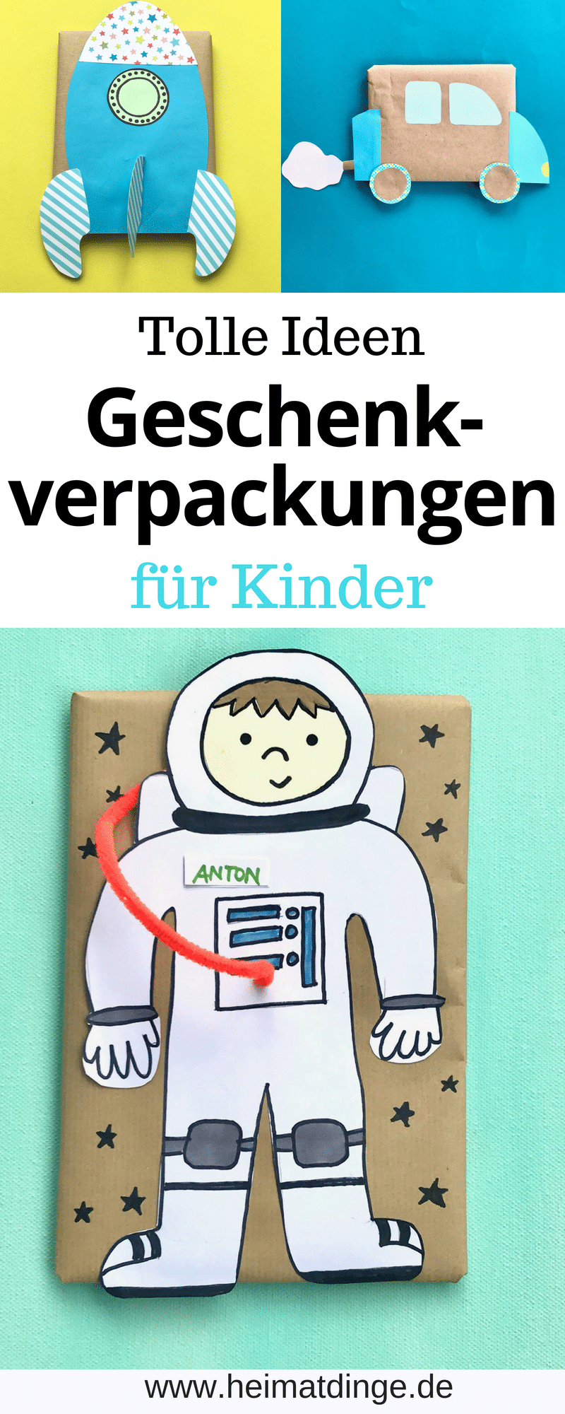 DIY Geschenkverpackung, Kinder, Upcycling