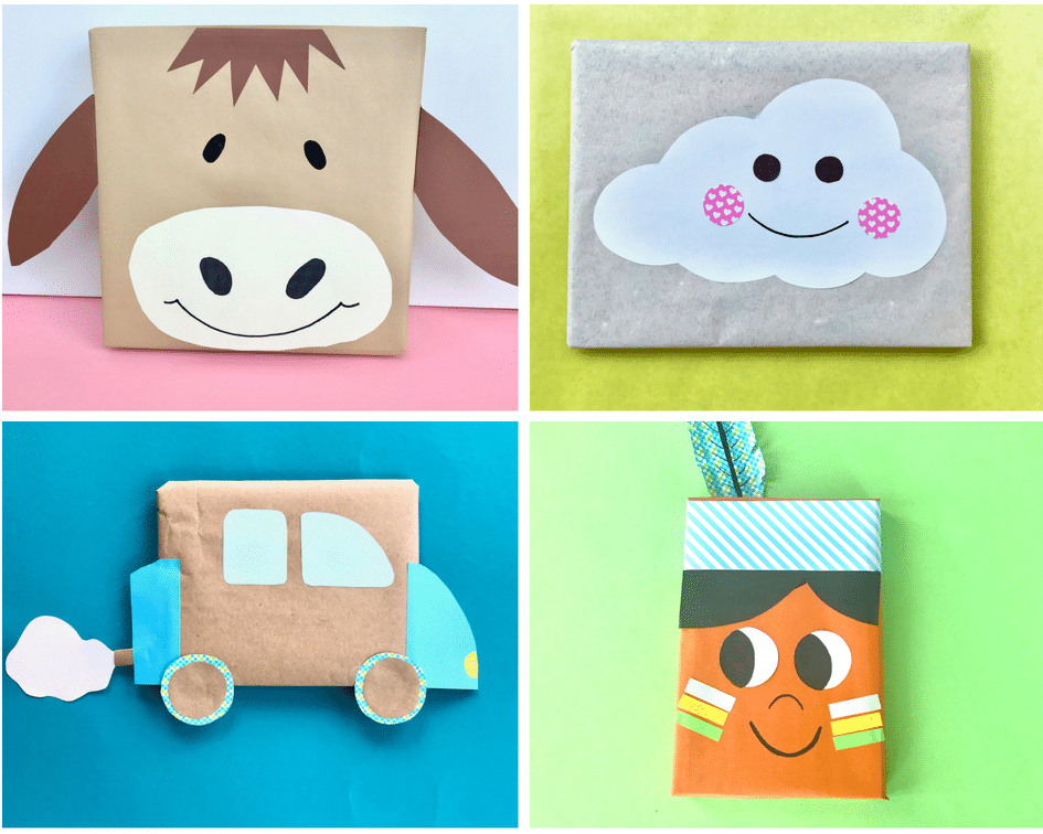 DIY Kindergeburtstag – 12 kreative Ideen für Geschenkverpackungen - % %