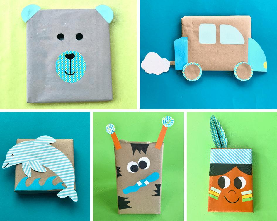 Geschenkverpackung Kindergeburtstag, Kinderparty, Geschenk für Jungs