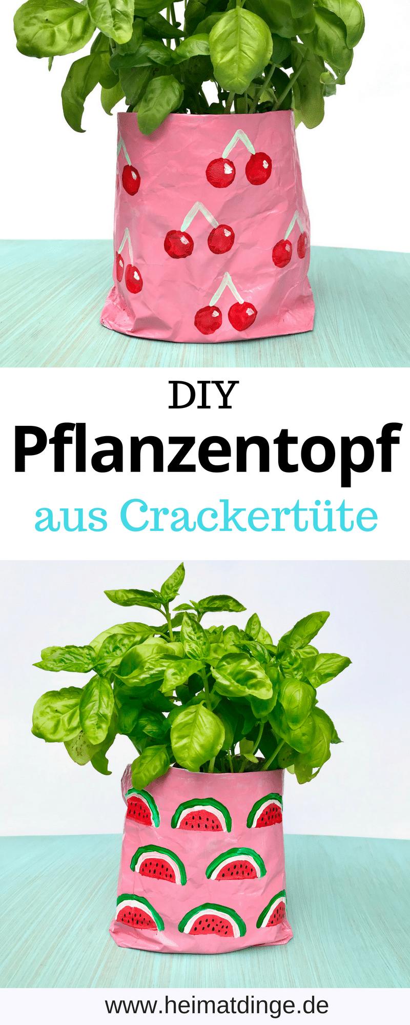 DIY Pflanzentopf aus Verpackung, Anleitung