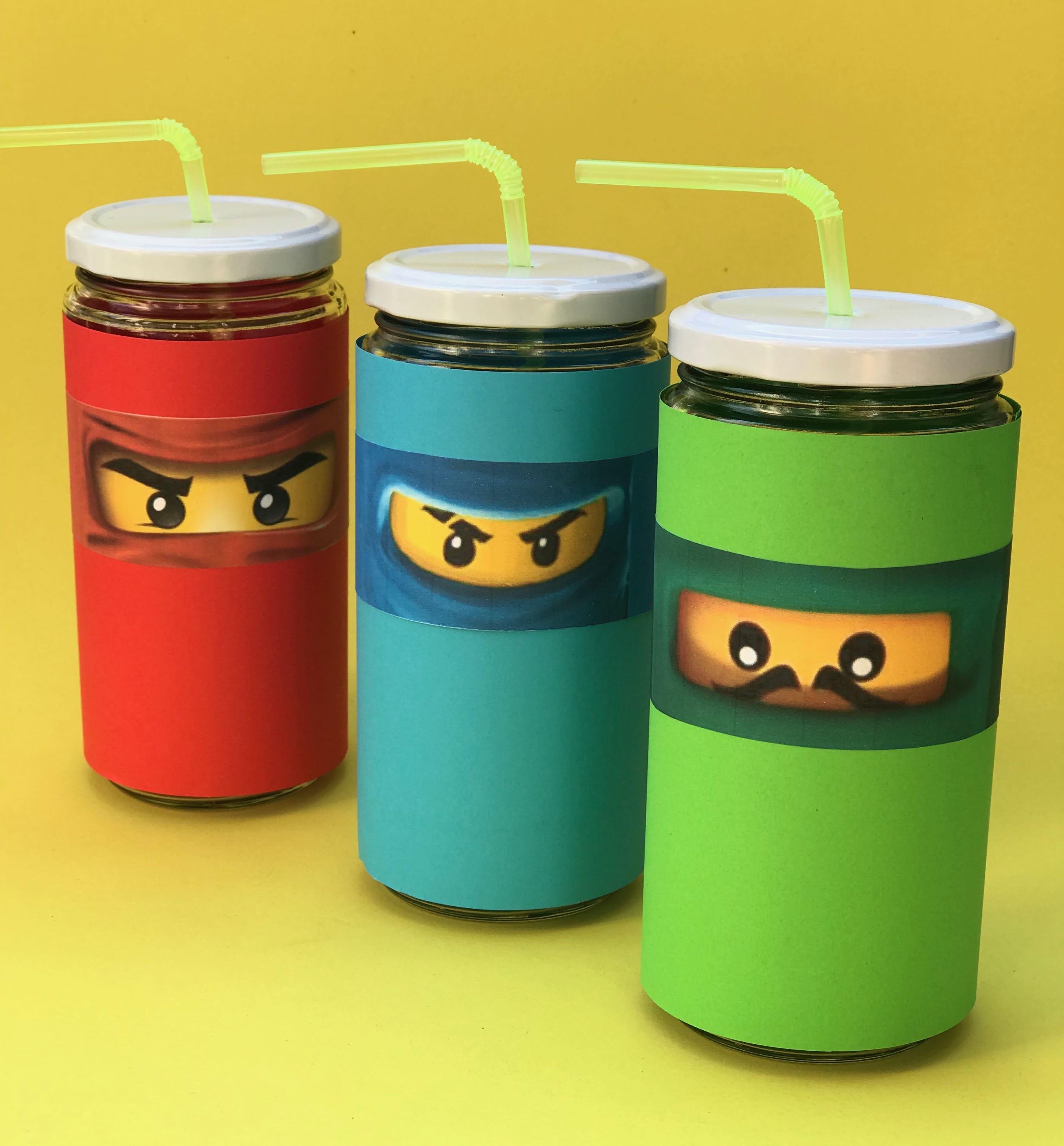 Ninjago Kindergeburstag Trinkglas selber machen