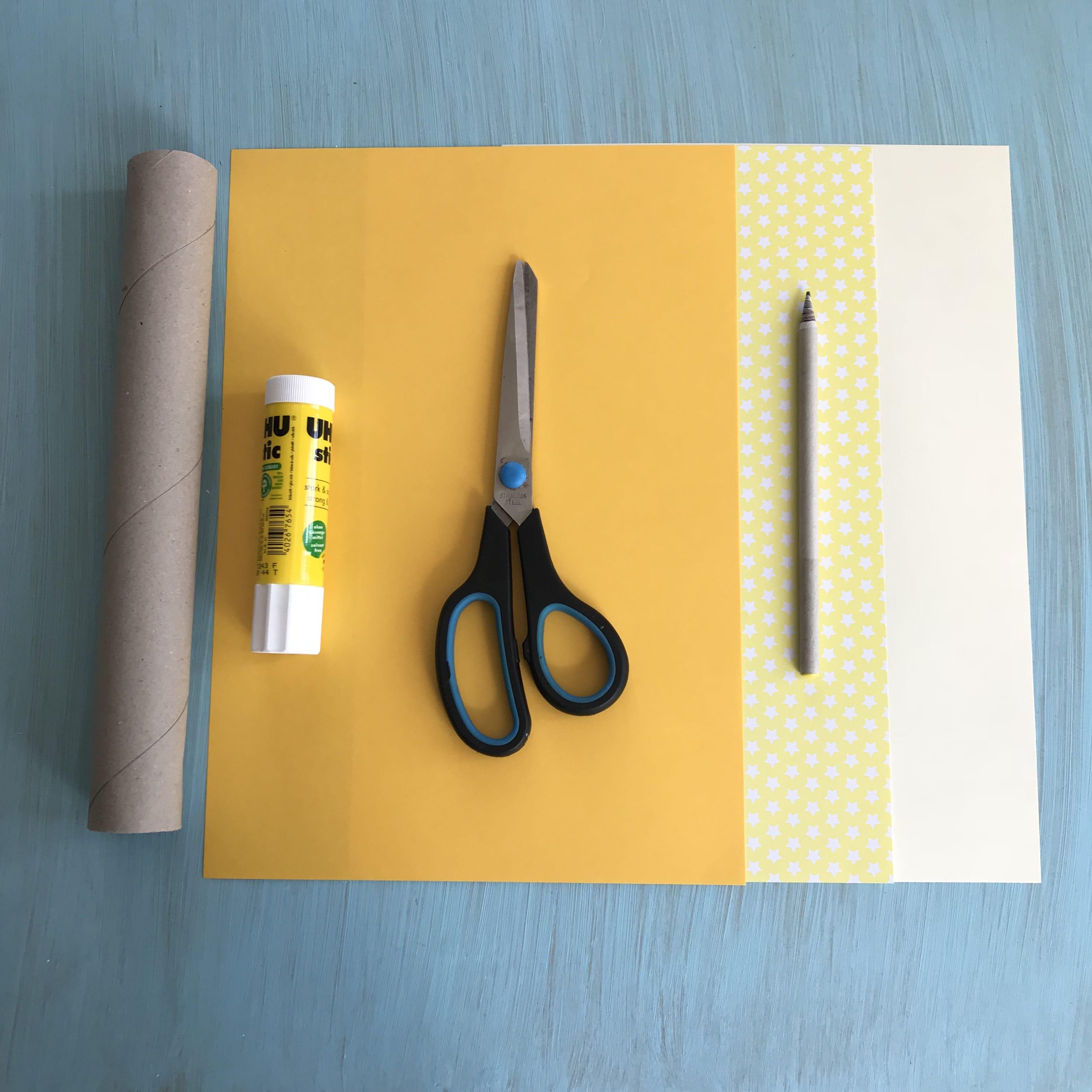 Schultuete DIY Geschenkidee Stift Material