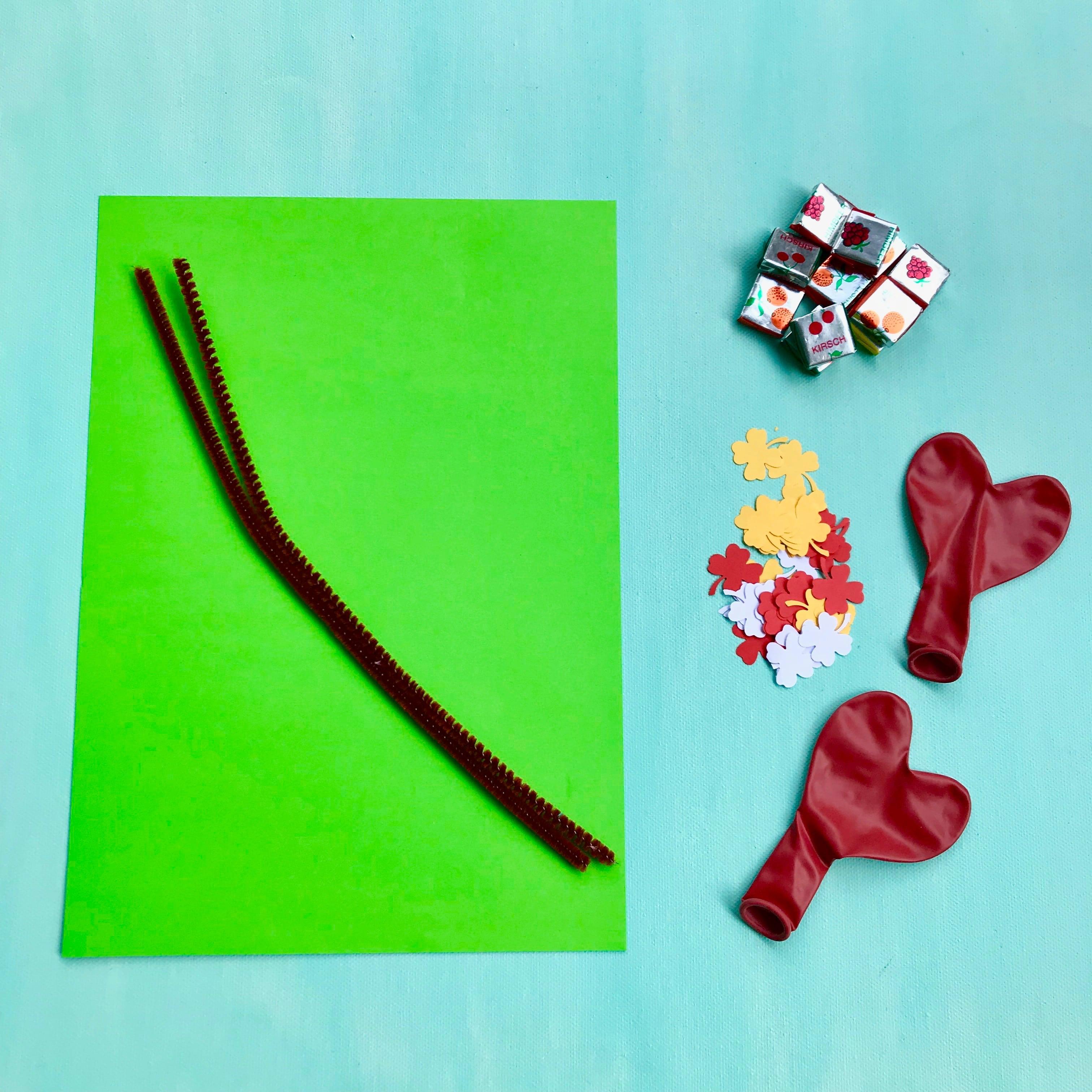 DIY Partydekoration, Lufballons, Kirschen, Material