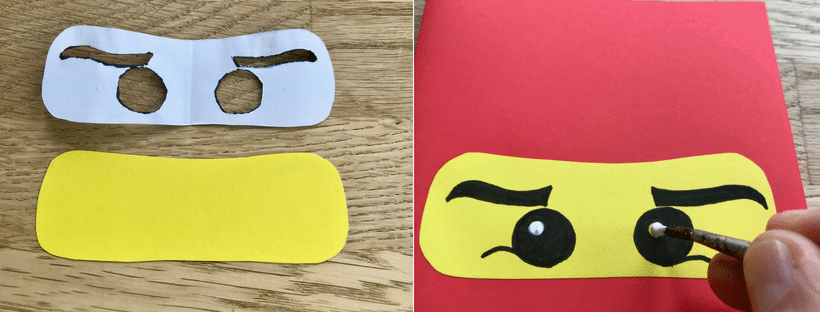 Ninjago Kindergeburtstag Einladungskarte selber machen