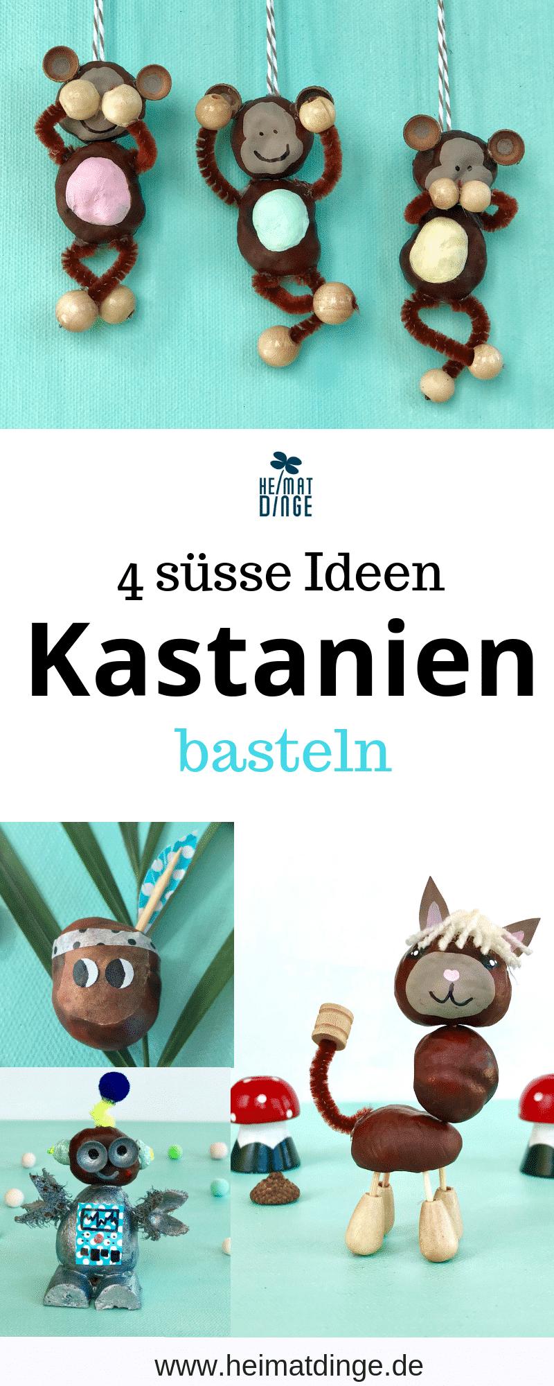 DIY Ideen Kastanien Basteln, Herbstdeko