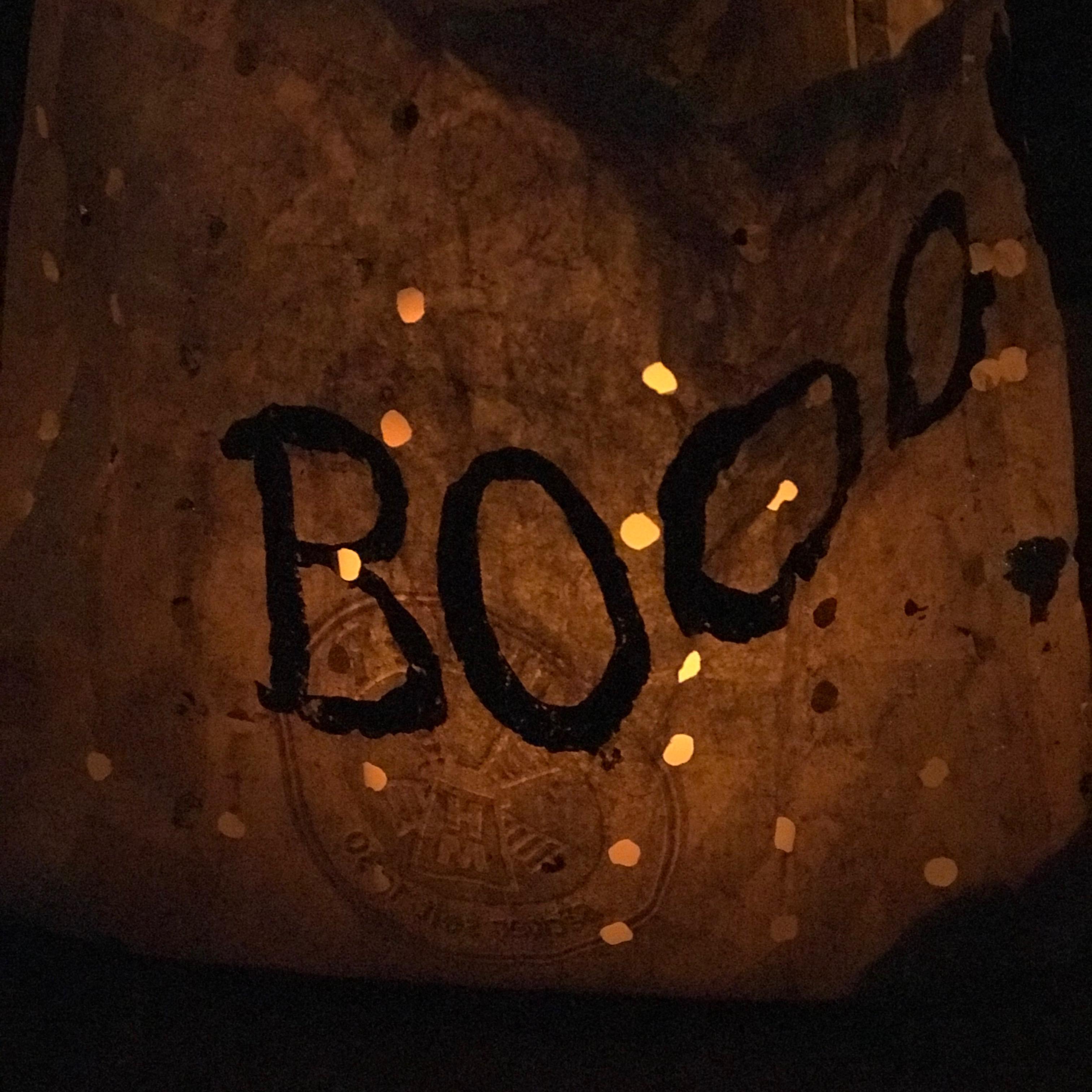 Windlicht basteln, Halloween Deko selber machen