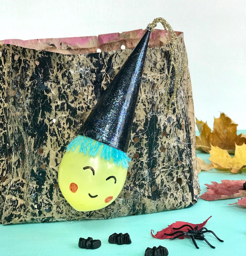 Halloween Teelicht aus Brottuete, Upcycling, Halloween Deko, Hexe