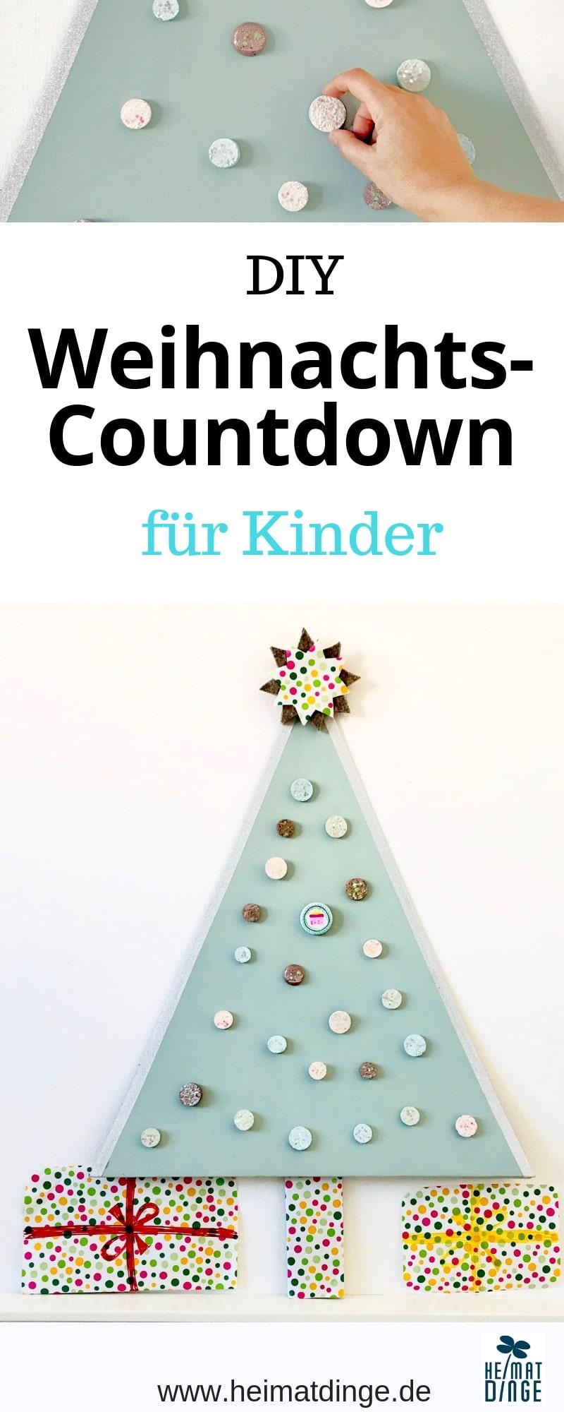 Weihnachten basteln mit Kindern zum Advent, DIY Weihnachts-Countdown, Weihnachtsbaum basteln , Upcylcing