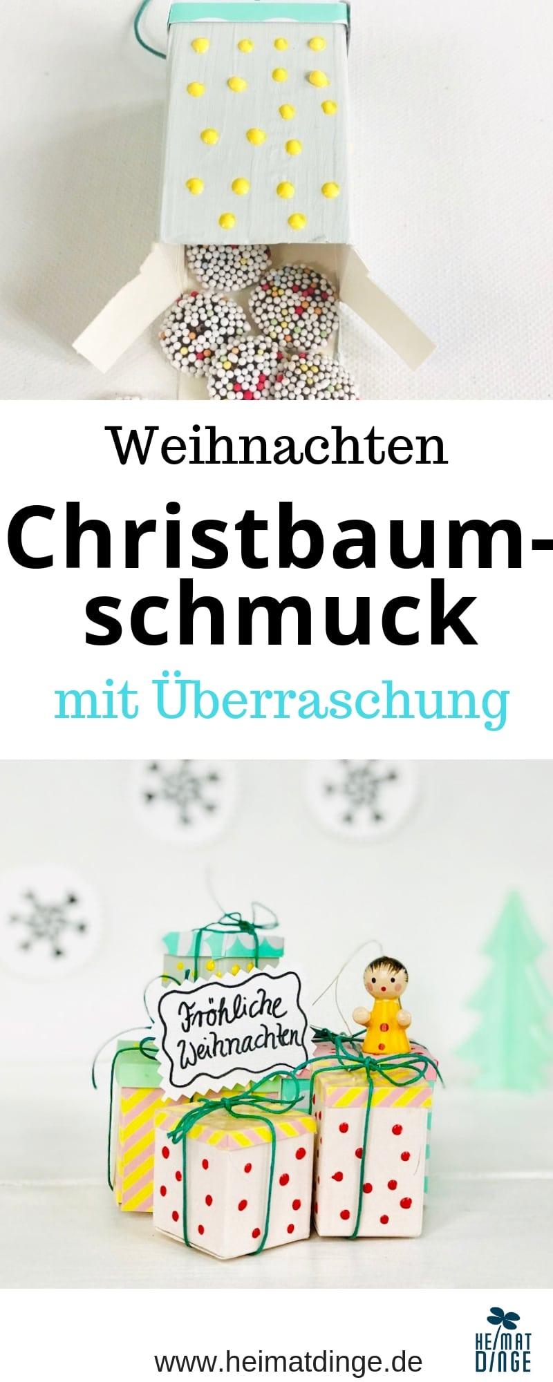 DIY Christbaumschmuck mit Suessigkeiten, selbermachen, Upcycling, Weihnachtsschmuck
