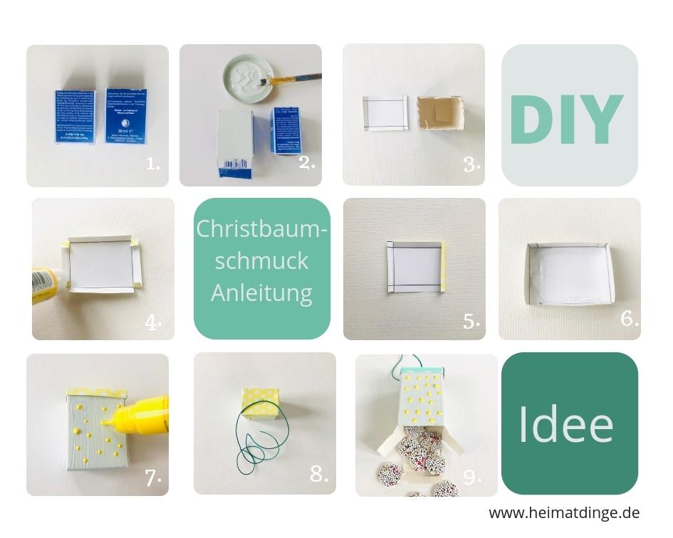 DIY Christbaumschmuck Suessigkeiten, basteln, Anleitung, Upcycling