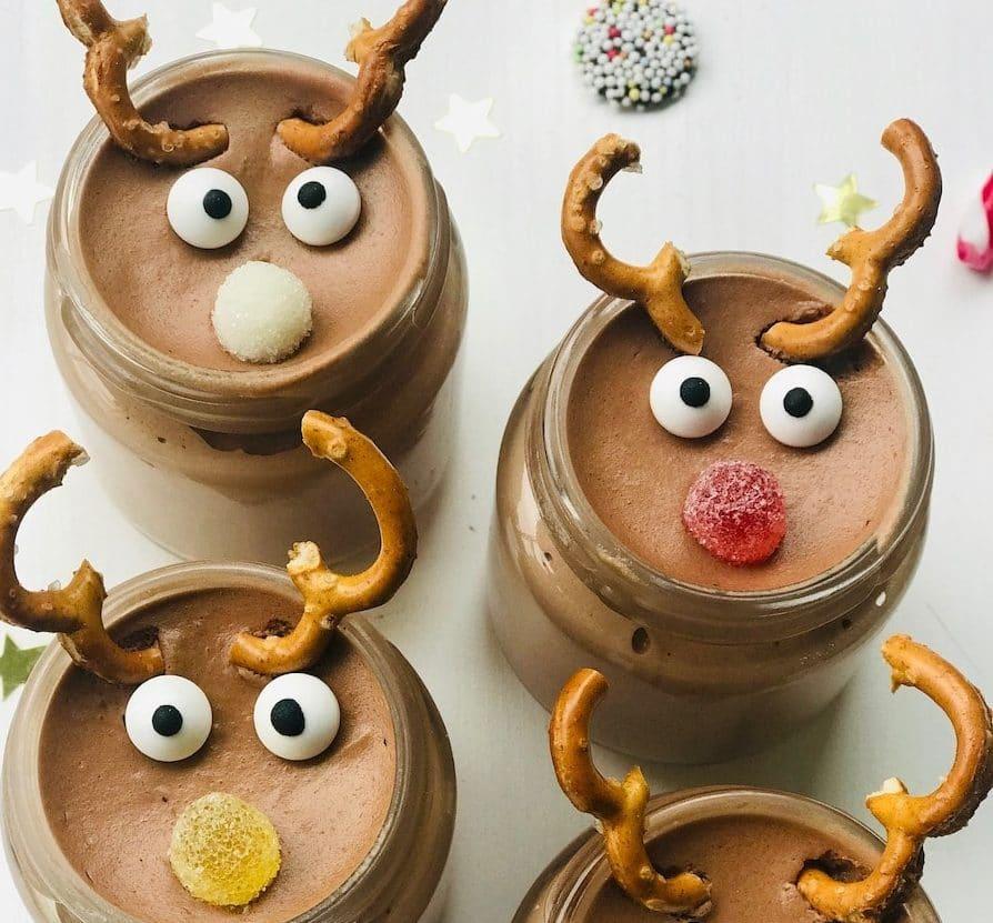 Weihnachtsdessert im Glas, Mousse au Chocolat, einfaches Rezept, Kinderdessert