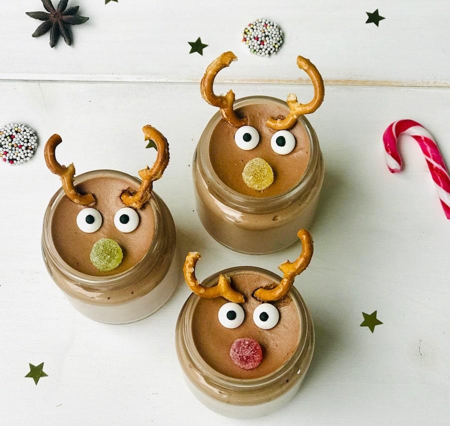 Rudolph Mousse au Chocolat, einfaches Rezept, Weihnachten