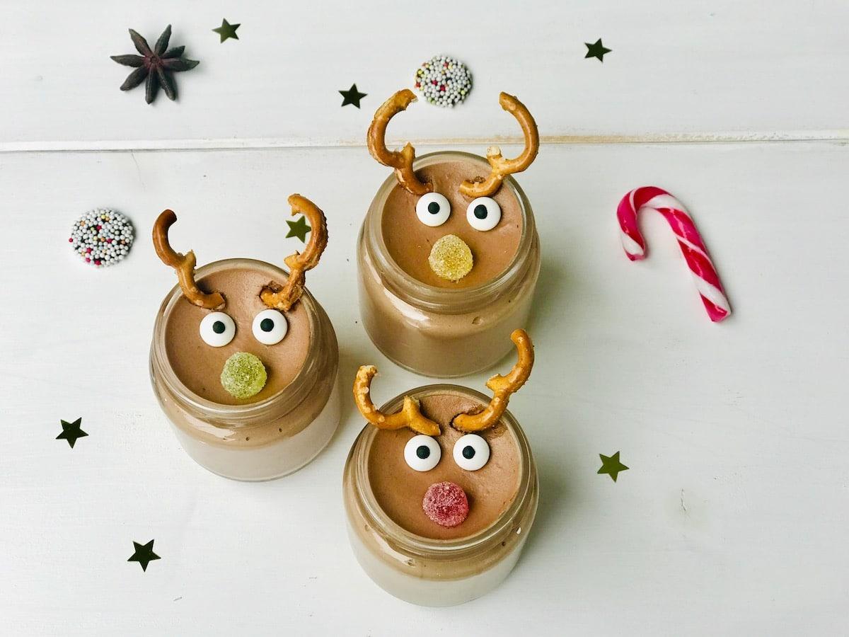 Rudolph Mousse au Chocolat, Rezept, Weihnachtsdessert