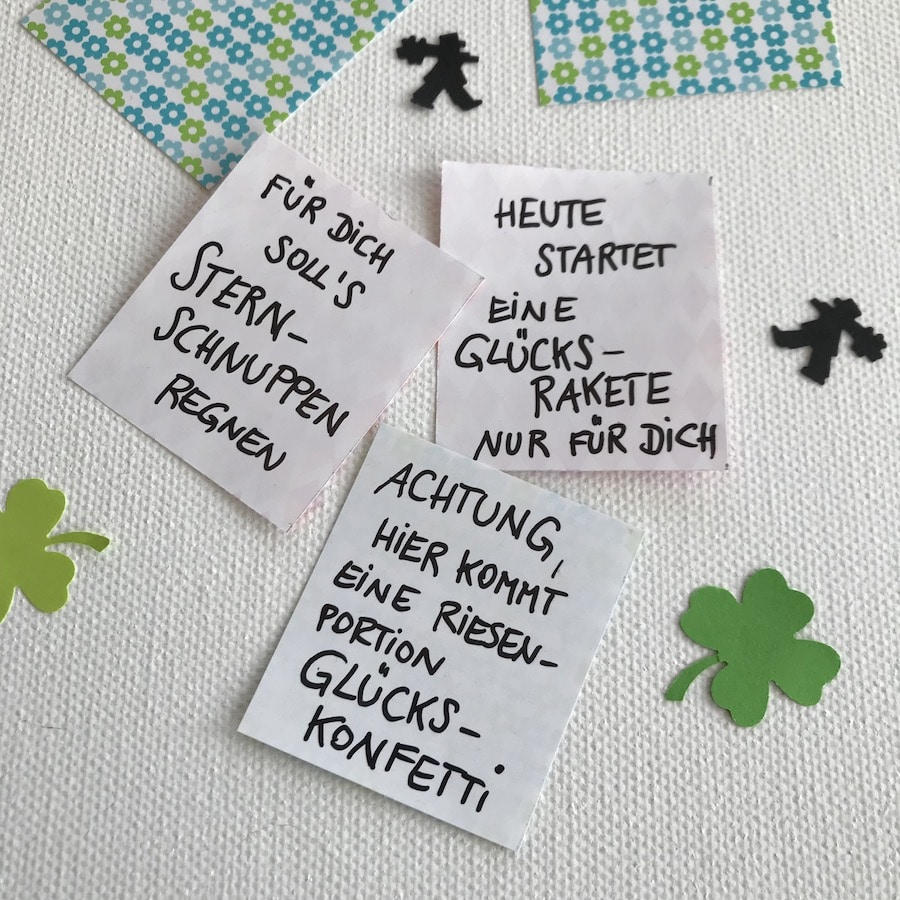DIY Gluecksbringer Kronkorken, selbermachen, Sprueche, Upcycling