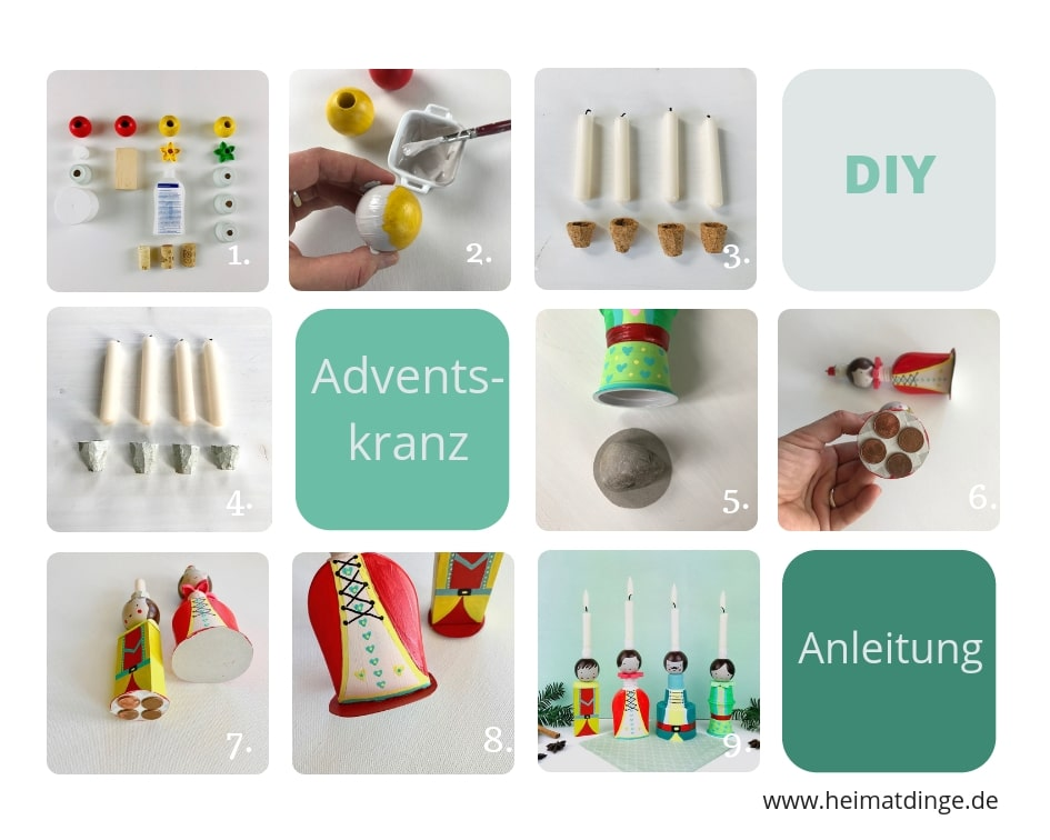 DIY Upcycling Familien Adventskalender, Kinder, Weihnachten