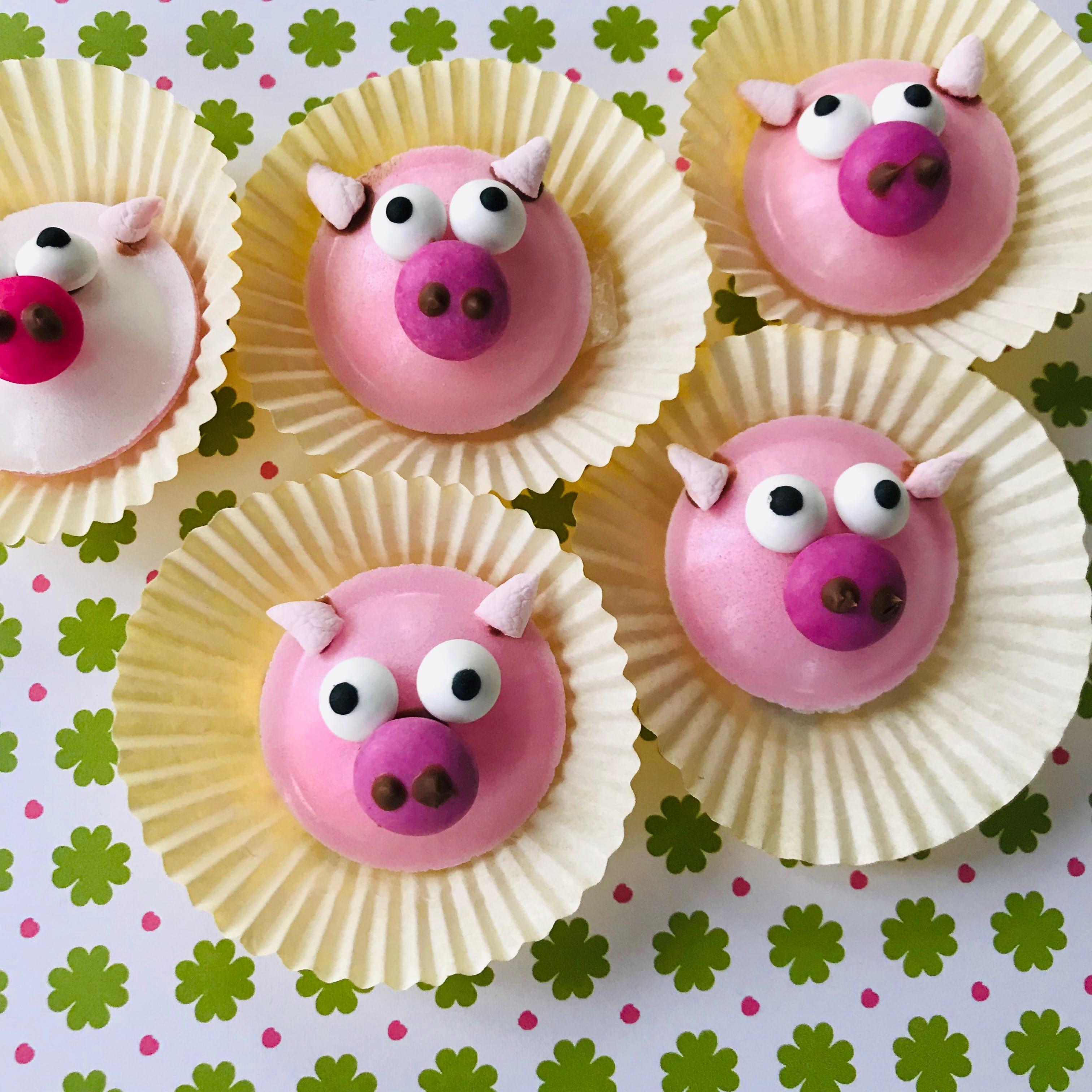 Mitgebsel fuer Gastgeschenk selber machen, Gluecksschweine