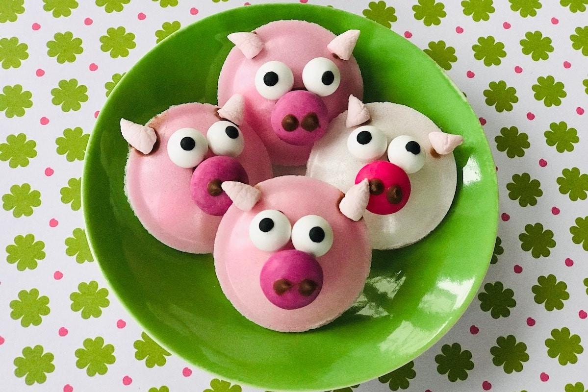 Süßer Partysnack, Mitgebsel Kindergeburtstag selber machen, Gluecksschwein