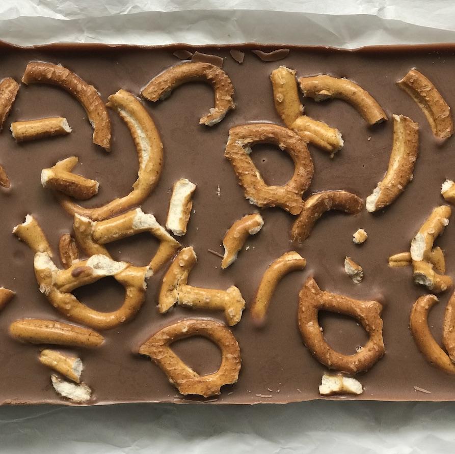 Rezept, Schokolade selber machen, Salzbrezn, Kindergeburtstag