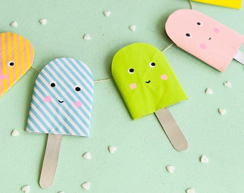 Eis basteln, Kindergeburtstag Deko, umweltbewusst basteln, Upcycling Ideen, Recycling Ideen, aus Alt mach Neu