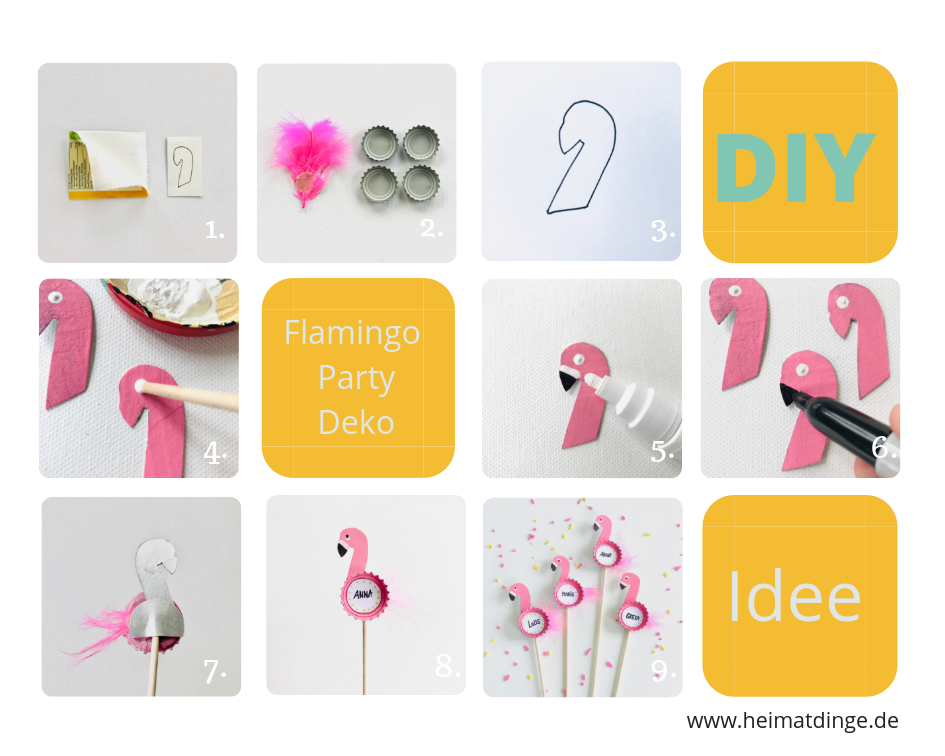 diy flamingo party picker anleitung