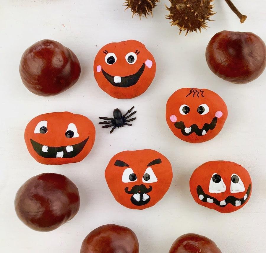 Basteln mit Kastanien, Halloween Party Spiel Kinder