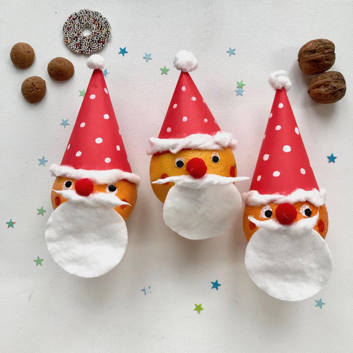 Weihnachtsmann basteln, Weihnachtsbasteln mit Kindern