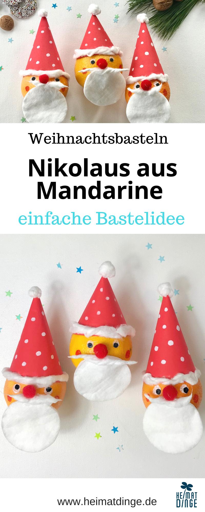Weihnachtsmann basteln, Basteln mit Kindern Advent