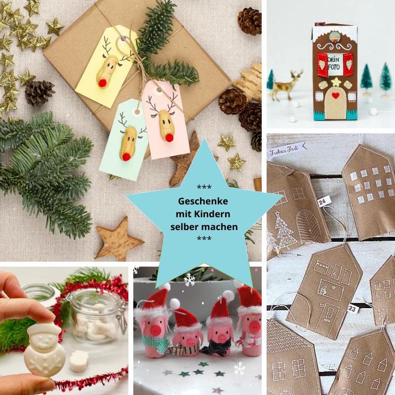 Weihnachtsgeschenke mit Kindern selber machen