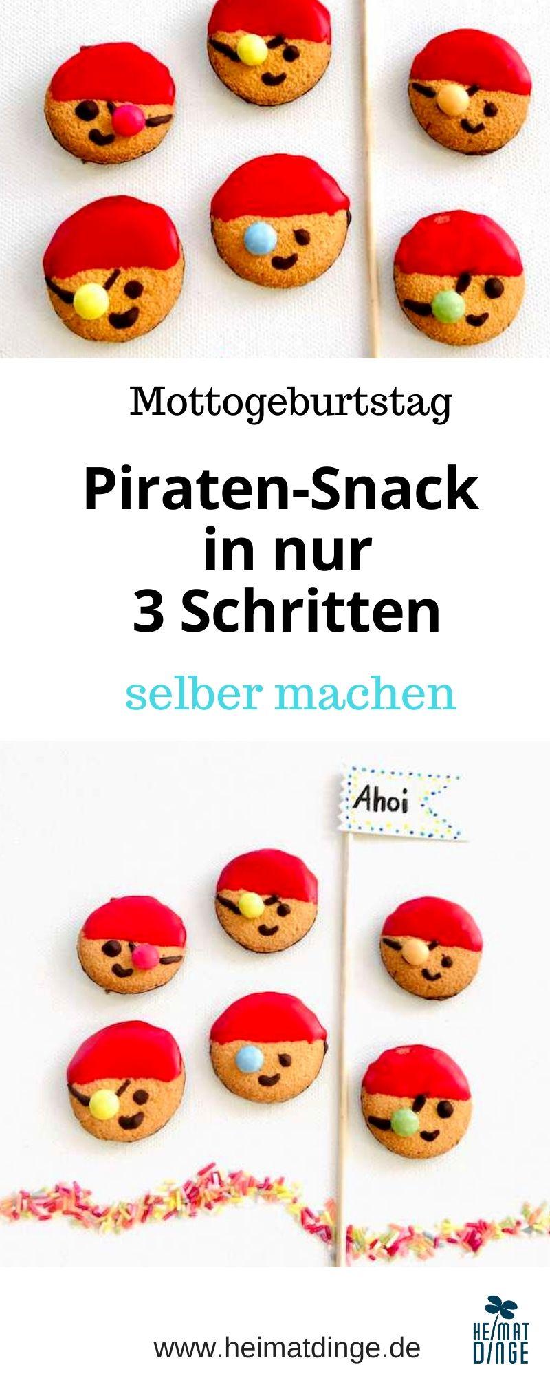 Piratenparty Essen, einfaches Rezept Kindergeburtstag