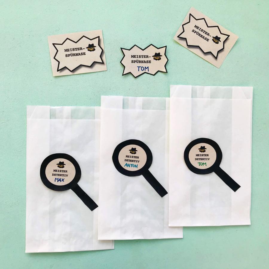 detektiv-geburtstag-planen-mitgebseltuete-selbermachen-diy-etiketten